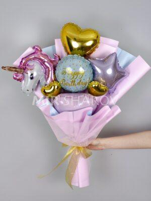 Букет из шаров «Единорожка»