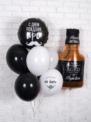 Набор гелиевых шаров «Мужской День Рождения» 👔