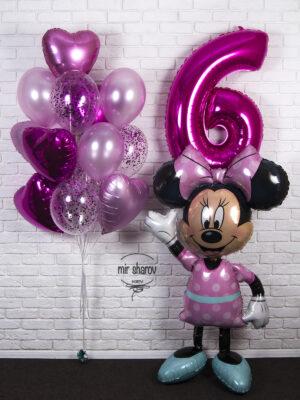 Розовый набор шаров «Минни Маус» 🐭