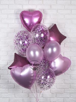 Набор воздушных шаров «Розовое конфетти»🔮