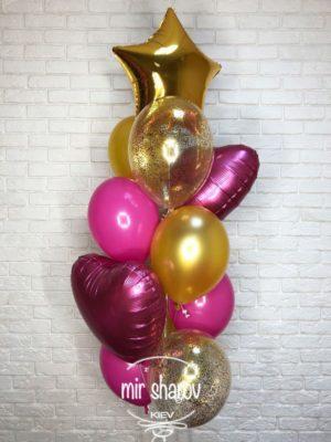 Набор гелиевых шаров «Пурпур»🎀