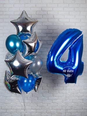 Набор гелиевых шаров «Синий иней» 💙