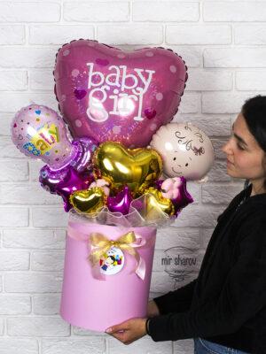 Букет из шаров «Baby Girl»