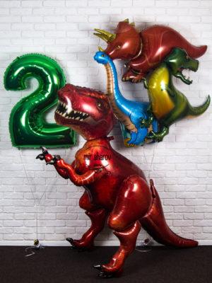 Набор больших шаров « Динозавр-р-р »🐱🐉