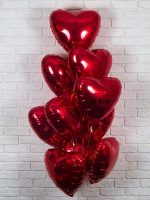 Набор шариков «Сет из красных сердец»❤️❤️❤️