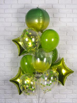 Набор гелиевых шаров «Кислотный»🦠🥝