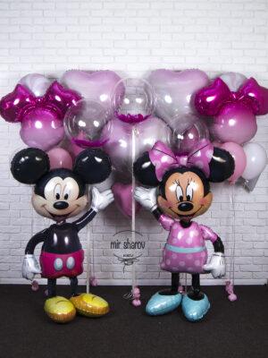 """Большой набор шаров """"День рождения с Минни и Мики""""🐭"""