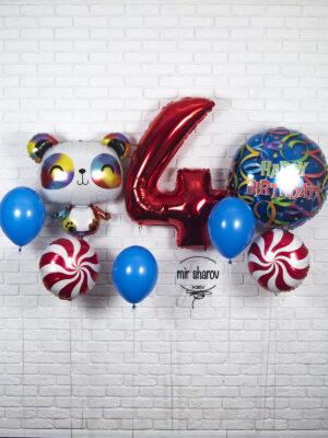 Набор воздушных шаров «Панда Кунг-фу»🐼