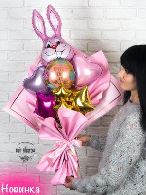 """Букет из шаров """"Кролик Банни""""🐰"""