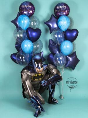 """Большой набор шаров """"Космический бэтмен"""""""