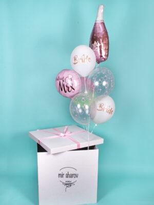 """Набор гелиевых шаров в коробке """"Bride сюрприз""""💍"""