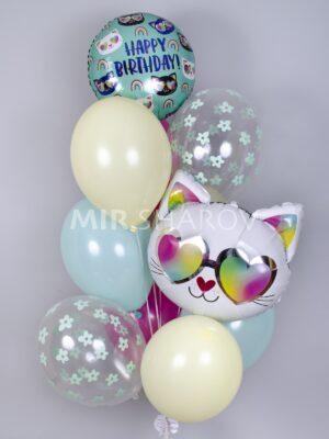 Шары на день рождения «Крутая Кошечка»