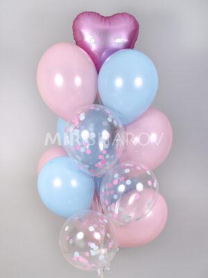"""Шарики на день рождения """"Розовые облака"""""""