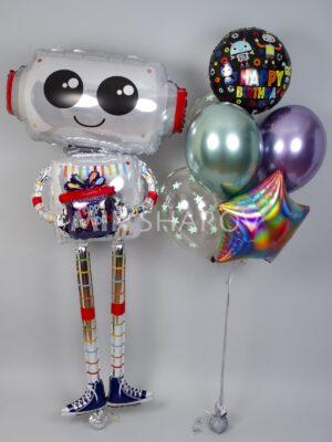 Шарики с гелием «Робот»